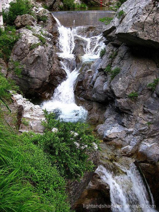 waterfall at mountain olympus greece