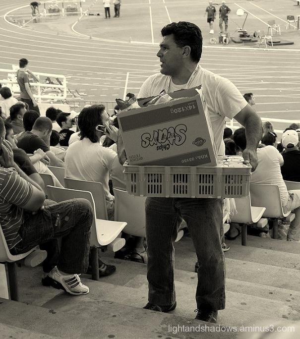 selling things at oaka stadium athens greece