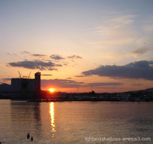 sunset at volos greece