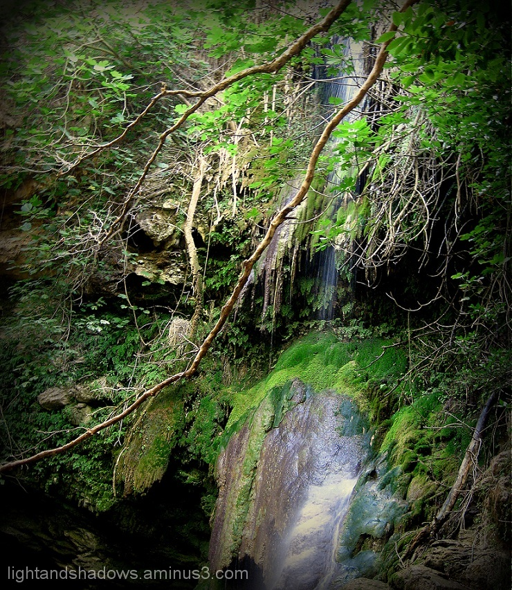 waterfall at kythera greece