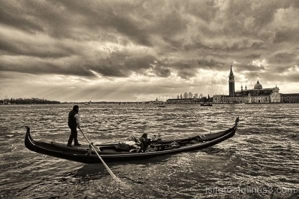 Dia ennuvolat a Venècia