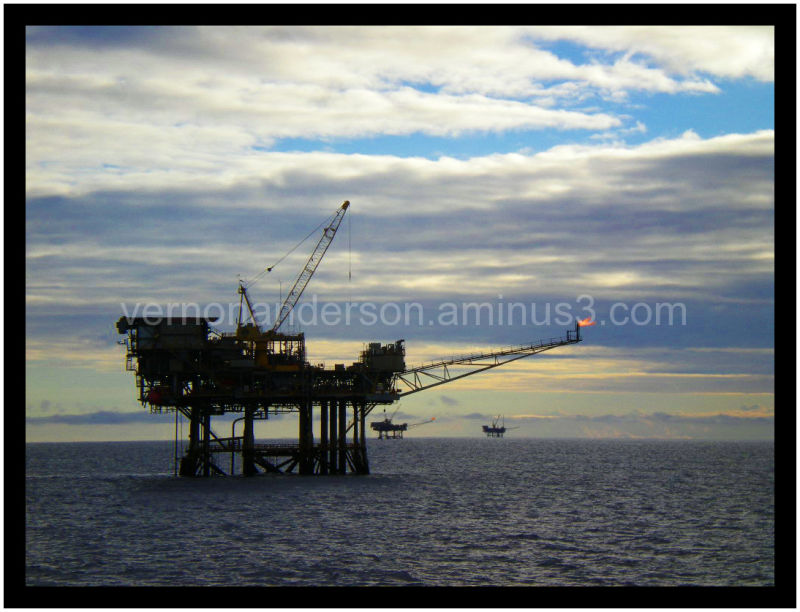 Oil Rig Platforms Sea