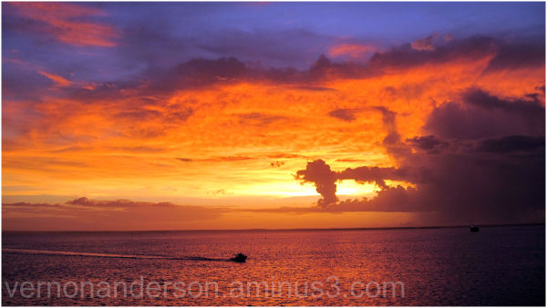 darwin sea sunset harbour