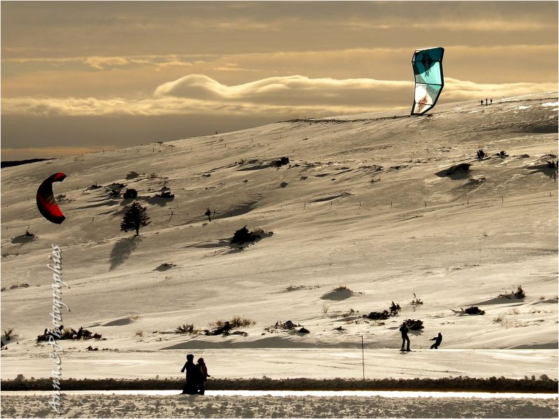 Snow-Kite session - I -