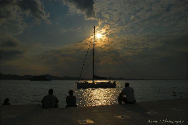 coucher de soleil au son des orgues marines