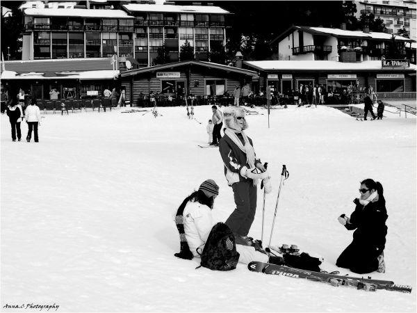 Plaisirs du ski entre copines