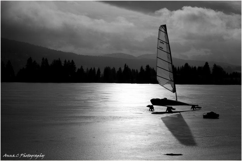 Sur le lac gelé # 1