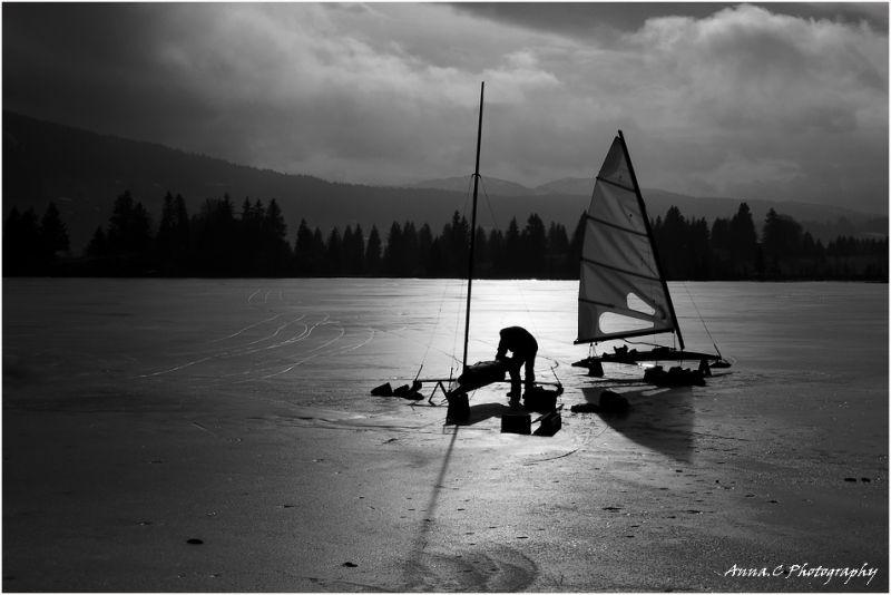 Sur le lac gelé # 3