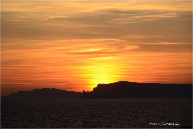 coucher de soleil sur le Cap de l'Aigle