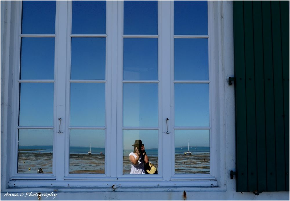 Selfportrait in the window