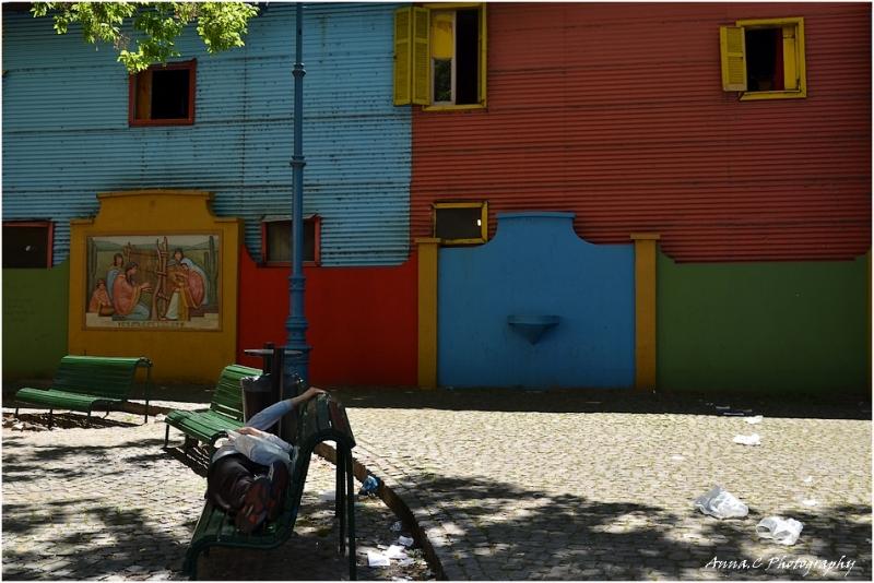 Buenos-Aires # 7 La Boca - petite sieste