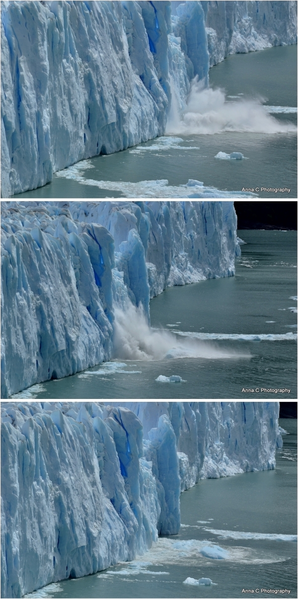 Perito - Moreno : Effondrement/ Collapsing