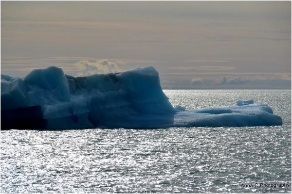 iceberg en contre-jour