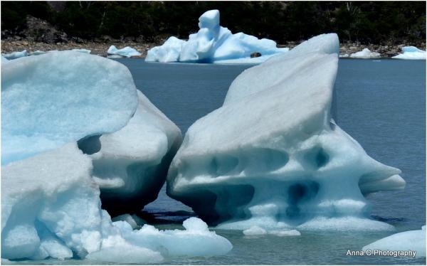 Icebergs sculptés par le vent