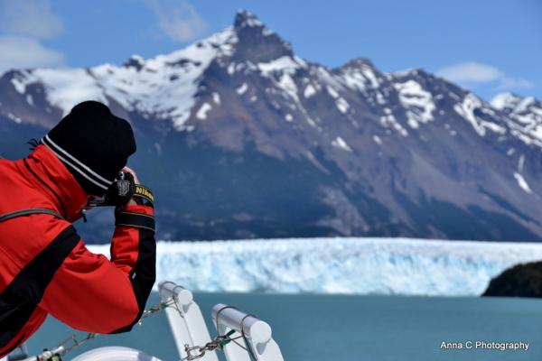 Approche du Perito Moreno, le nikoniste en action