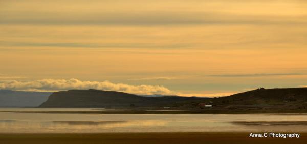 lumière du soir sur le Lago Argentino
