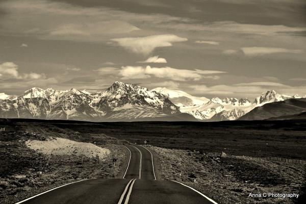 sur la route du Fitz Roy....