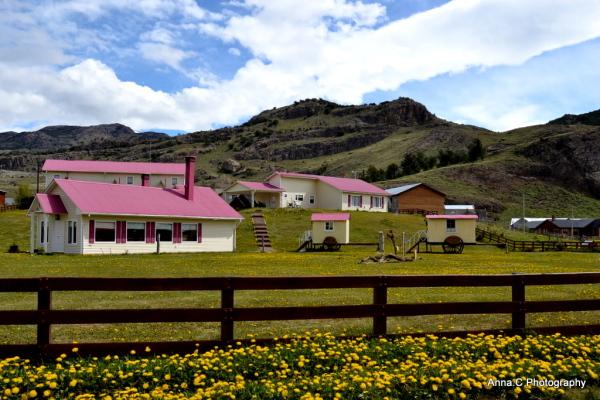 c'est une maison rose...