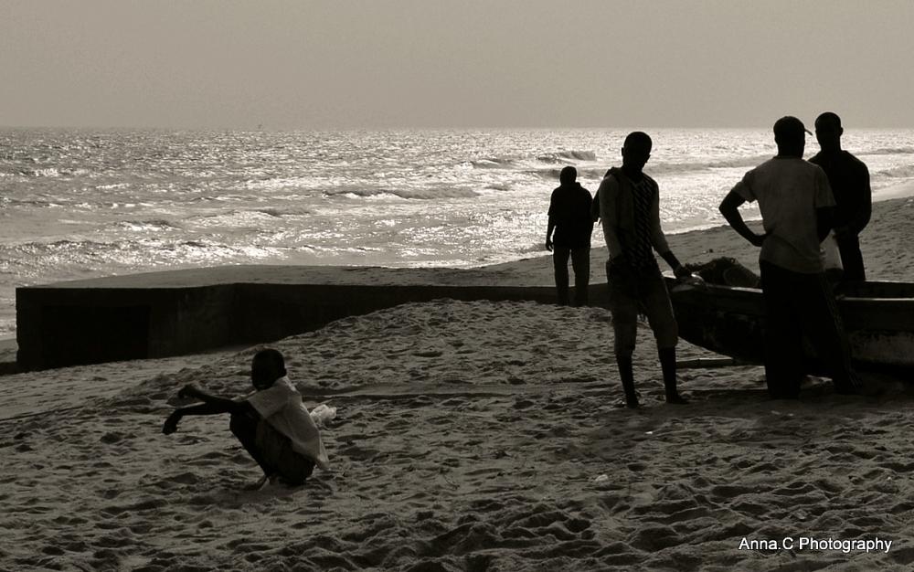 rassemblement sur la plage