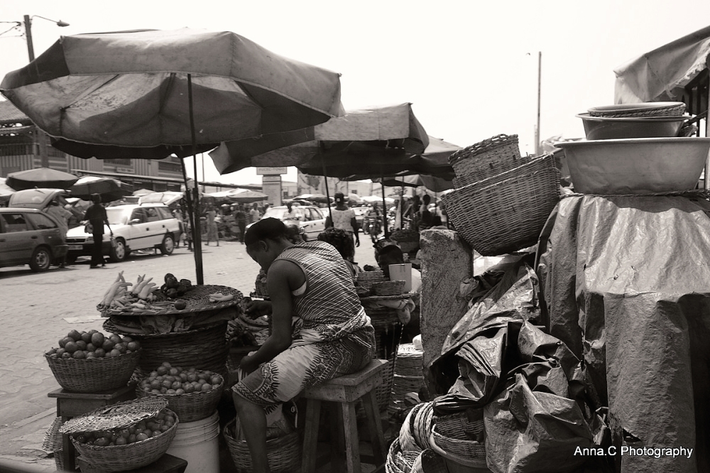 Jour de marché à Lomé