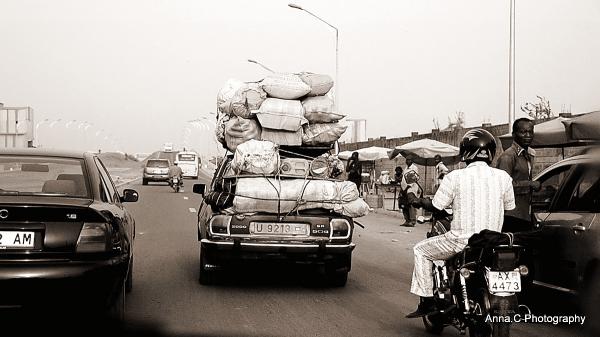 Dans la circulation de Lomé