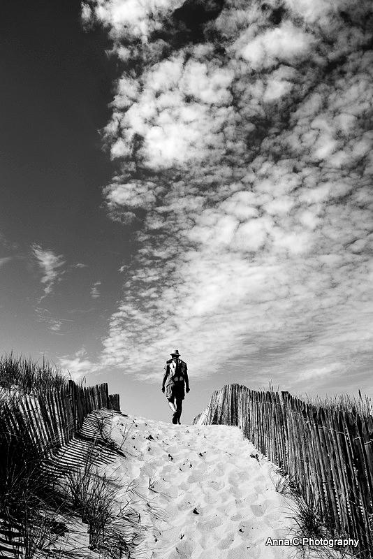 en haut de la dune