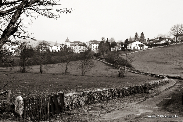 Campagne basque en hiver