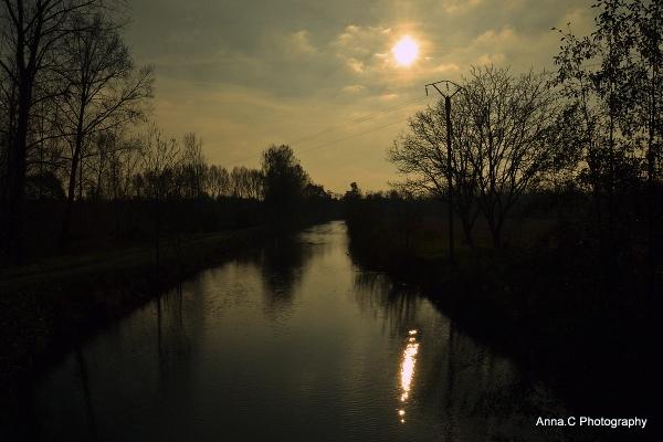 un soir d'hiver sur la rivière...