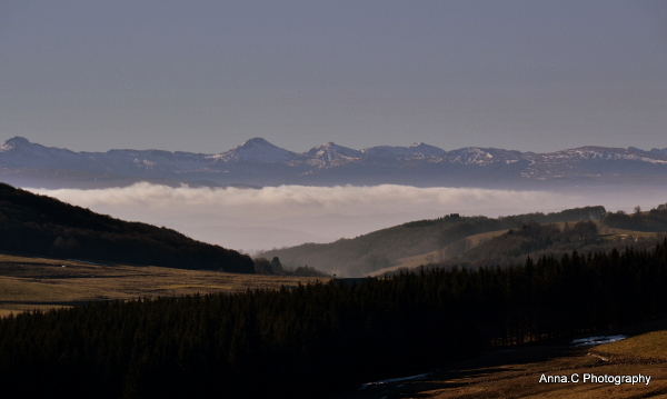 La brume dans la vallée