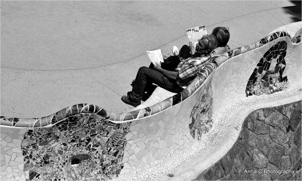 pause au parc Güell