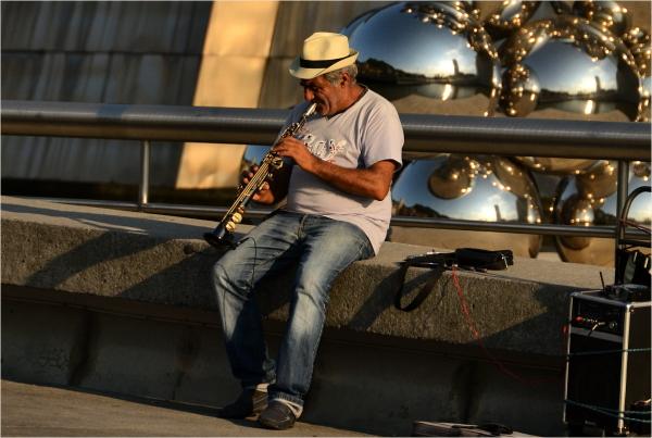 Guggenheim Bilbao # 11 - Le clarinettiste