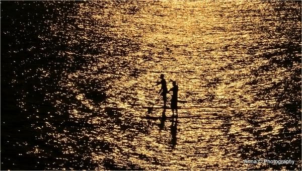 Paddle at sunset