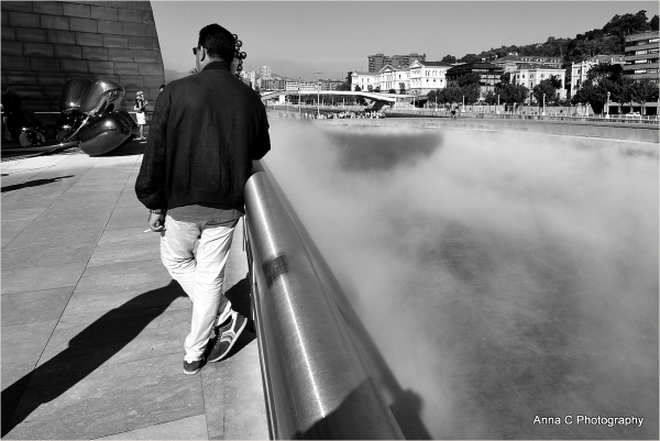 Guggenheim Bilbao # 16 - smoke in the fog