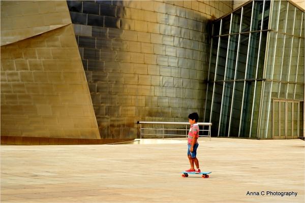 Guggenheim Bilbao # 36   The little skater