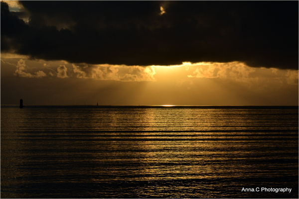 Sun under the black cover