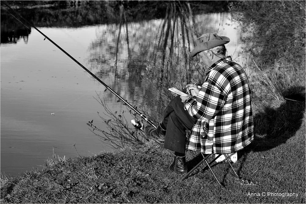 Un sudoku en attendant que le poisson morde