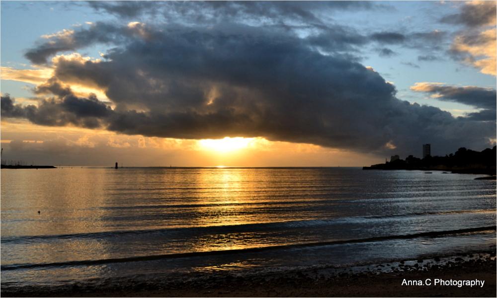 Sunset sur la baie de La Rochelle