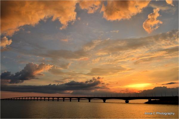 Sunset over the bridge