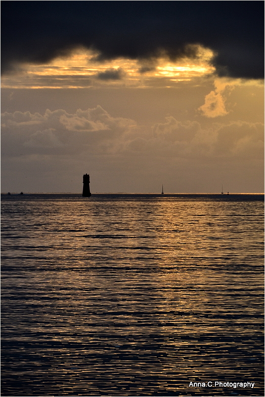 Coucher de soleil sur la balise Richelieu