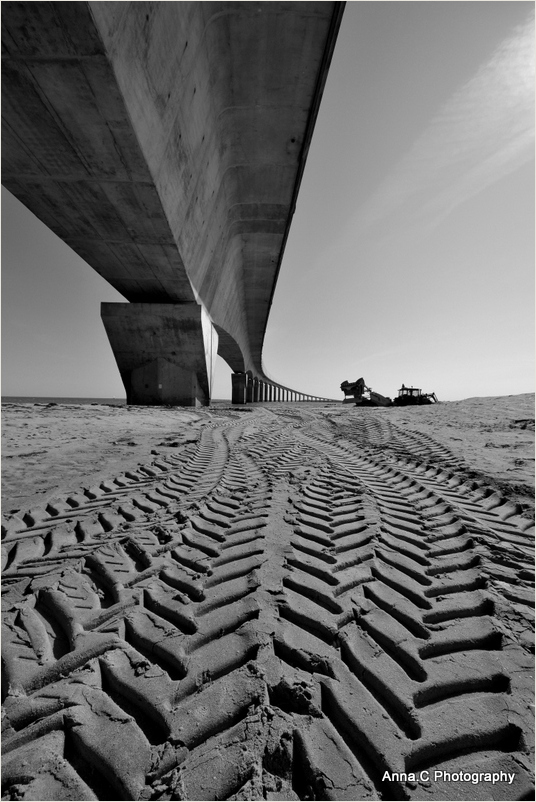 Travaux sous le pont