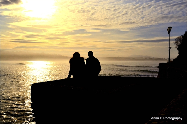 Sunset contemplation for lovers