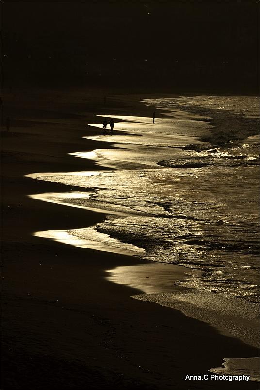 On the golden beach