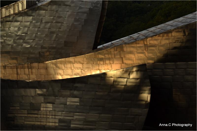 Reflets de lumière sur Guggenheim
