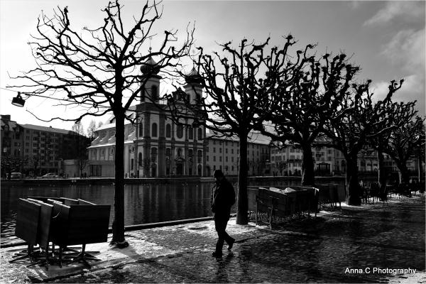 Lucerne #9 - Promenade solitaire