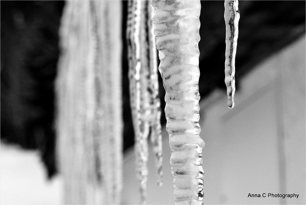 Stalactites glacées