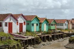Les cabanes colorées d' Oléron
