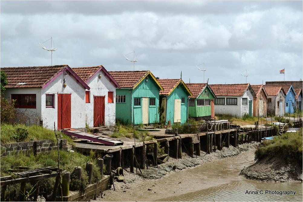 Les cabanes colorées d