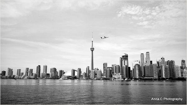 Le survol de la skyline de Toronto