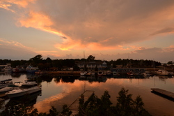 Sunset on the harbour
