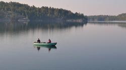 Partie de pêche un matin calme